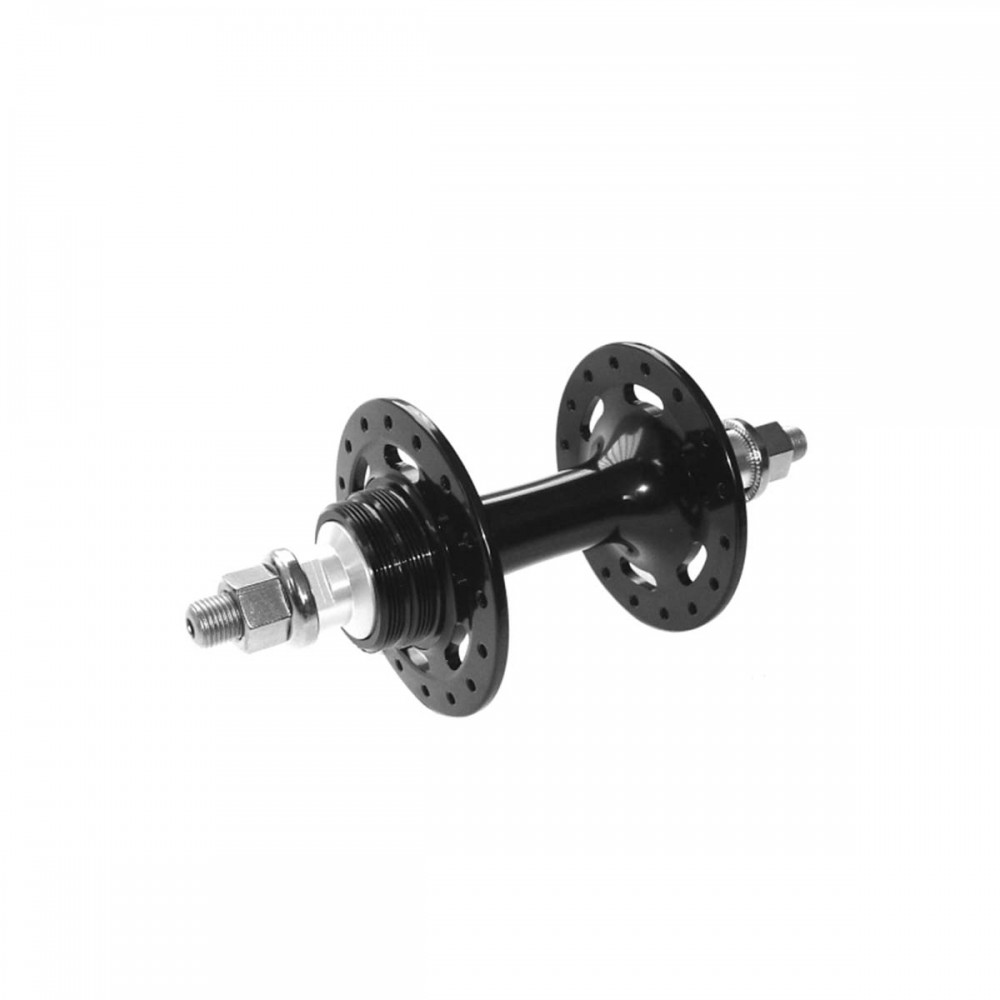 Buje Trasero de Pista Aluminio Negro c/ Rodamientos (32R)